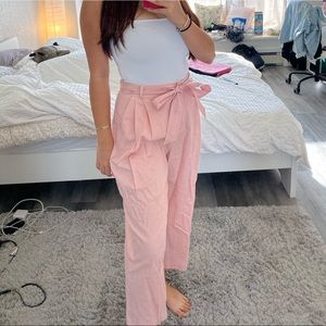 ASOS Pink Tie Cullote Pants